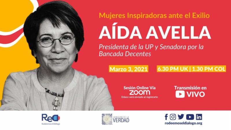 Aida Avella presidenta UP bancada Decentes en conversatorio virtual del Nodo Reino Unido Irlanda