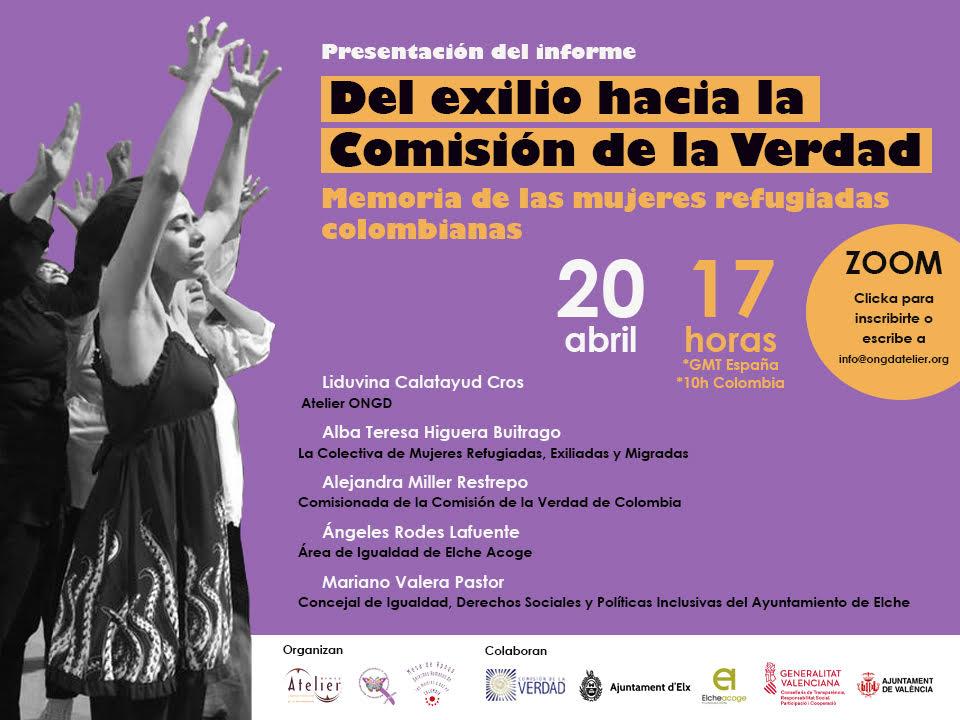 Desde España, Colectiva Mujeres Refugiadas presentan su informe ante la Comisión de la Verdad.