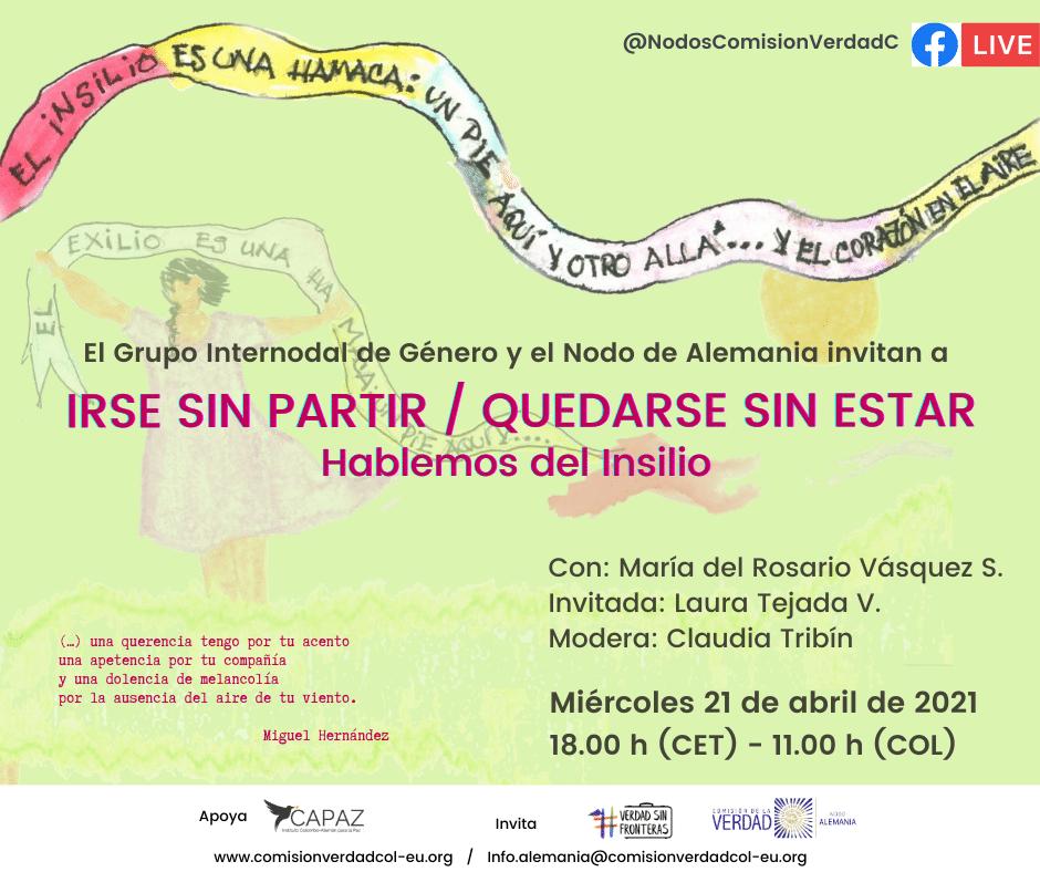Evento del Nodo Alemania sobre insilio y exilio colombiano.