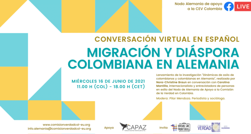 El Nodo Alemania recibe apoyo del Instituto CAPAZ para difundir el mandato de la Comisión de la verdad de Colombia en ese país.