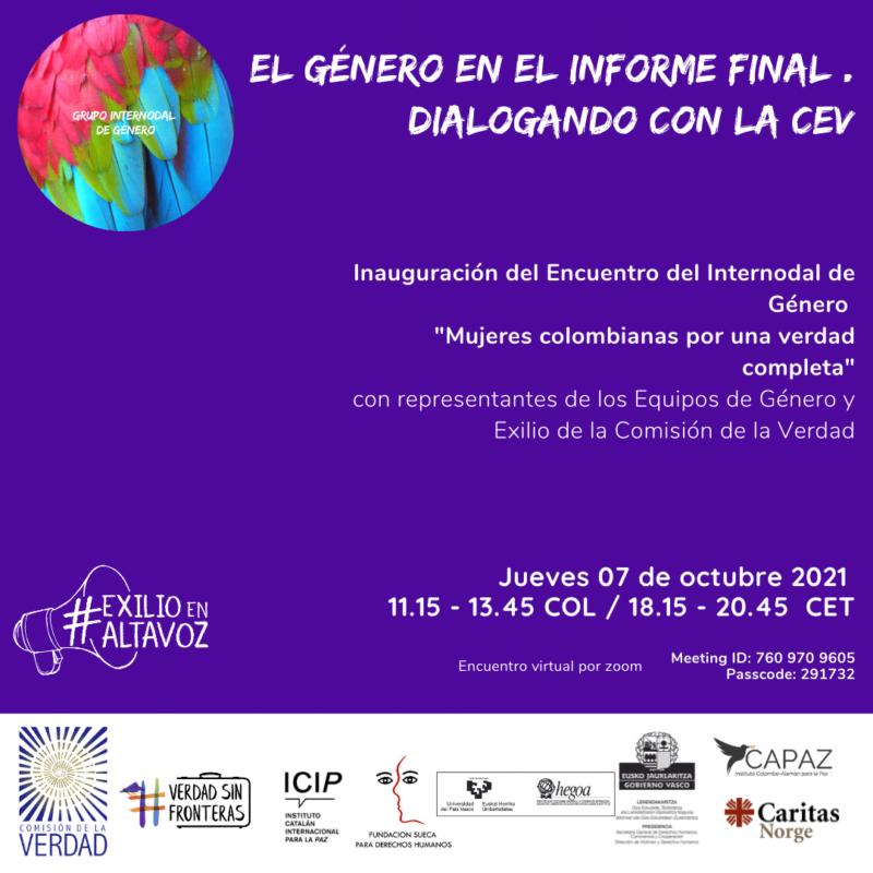 Inauguración encuentro grupo internodal de género 2021